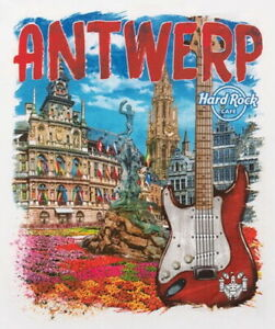 Hard-Rock-Cafe-ANTWERP-2016-City-Tee-White-T-SHIRT-XL-Men-039-s-New-with-Tags-V16