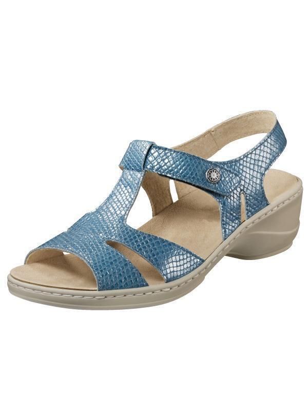 Sandalias zapatos mocasines decorado azul de cuero oro corona (42) WH