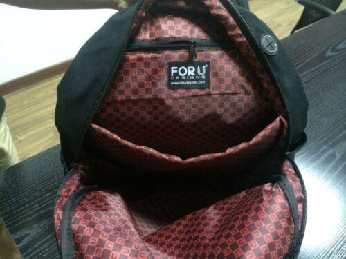 Purple Floral Canvas Backpack Women Girls School Shoulder Bag Travel Rucksack