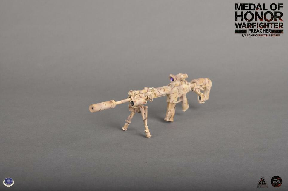 Preacher Medal of Honor Warfighter LaRue OBR 5.56 Rifle 1 6th Scale by CalTek