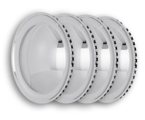"""14/"""" inch CHROME WHEEL TRIMS set of 4 Hubcaps Moon Caps mooncap"""