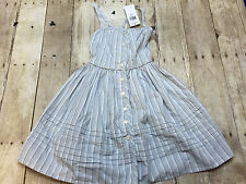 RALPH LAUREN POLO BLUE STRIPED DRESS SKIRT GIRLS SIZE 7 NEW WITH TAGS