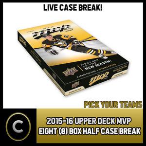 2015-16-UPPER-DECK-MVP-8-BOX-HALF-CASE-BREAK-H076-PICK-YOUR-TEAM