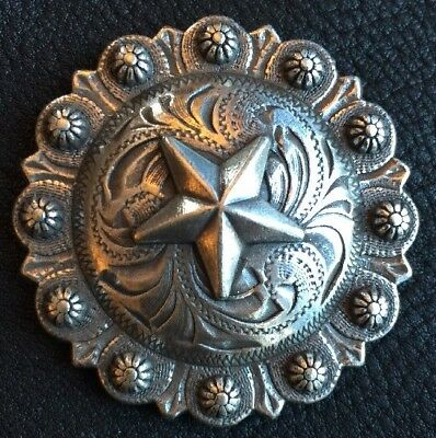 """WESTERN HORSE HEADSTALL SADDLE TACK  1-3//4/"""" COPPER BERRY CONCHO screw back"""