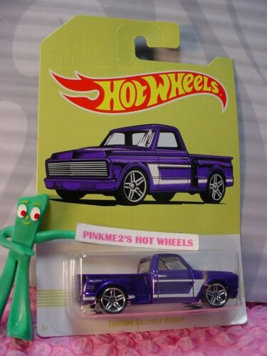 CUSTOM /'69 CHEVY PICKUP #9☆purple☆ 2019 Hot Wheels WALMART American Pickup Truck