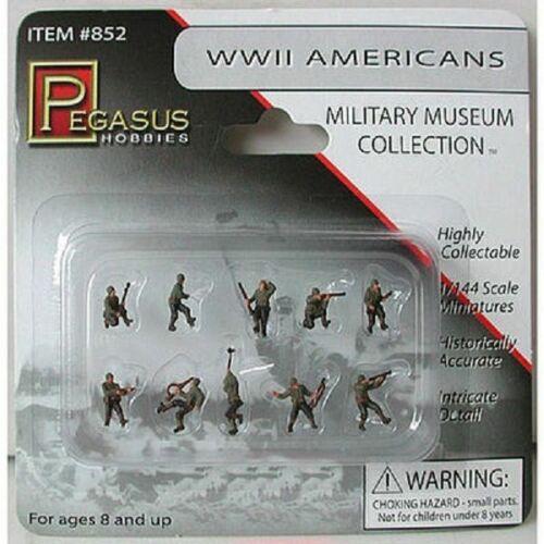 Pegasus 852 x 1//144 American Infantry WWII figures Painted