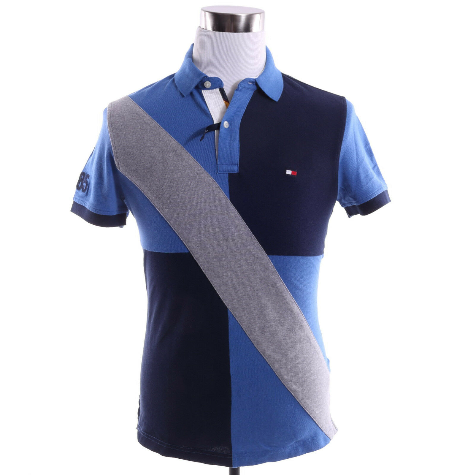 Tommy Hilfiger Uomo Short Sleeve Custom Fit Logo Polo Pieced Pique Polo Logo Shirt - 0 Ship c11a54
