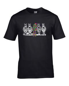 BORN TO BE DIFFERENT Crazy Punk Zebra Men/'s T-Shirt