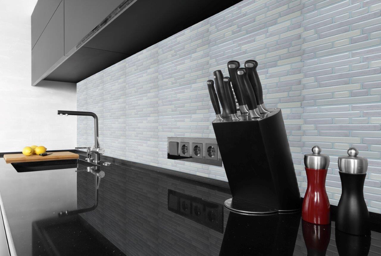 Efecto de mosaico 3D Gel Auto-Adhesivo Azulejos De Parojo Baño Cocina & 245 X 235 mm