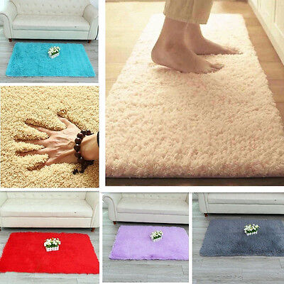 Fluffy Anti-skid Shaggy Area Rug Yoga Carpet Home Bedroom Floor Dining Room Mat