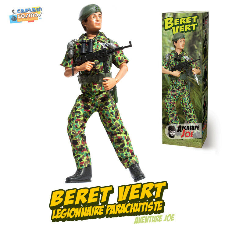 Tenue Aventure Joe BERET green repro neuve Group Action Man outfit only