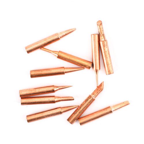 10pc 900M-T Soldering Tip Pure Copper Iron Head Series Solder Tool w//Iron Casing