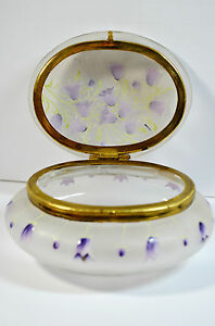 Antique-Frosted-Glass-Jewelry-Box-Trinket-Hand-Painted