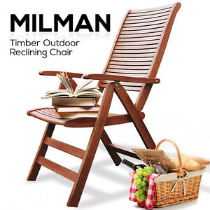 Image Is Loading NEW Eucalyptus Timber Outdoor Furniture Set Wooden  Reclining