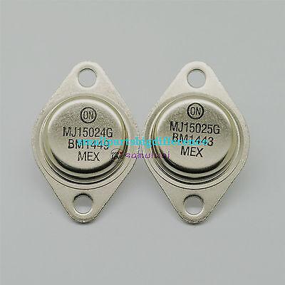 5pair OR 10PCS ON//ONSEMI TO-3 MJ15024G//MJ15025G MJ15024//MJ15025 100/% Genuine
