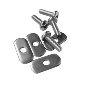 4 Sets Durable Stainless Steel Screws /& Nuts Hardware For Kayak Track// Rail T LD
