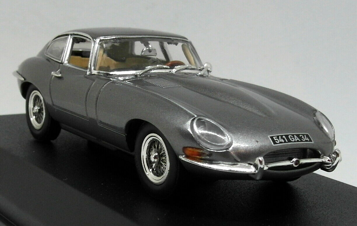 Norev 1 43 Scale - Jaguar E-Type Coupe 1964 Gunmetal Grey Diecast Model Car