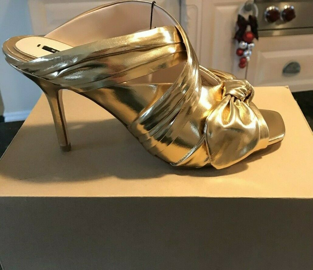 ZARA WOMAN  gold LAZO MULE  SANDALS  SIZE EU40 US 79 (6815 201) NIB