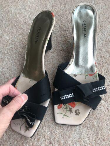 usata suola Chantal Italy Donna In cuoio sandali Made zeppa 5 taglia in con x7Rqz1R