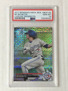 BO BICHETTE 2017 Bowman Chrome MEGA BOX SP RC! PSA GEM MINT 10! #BCP142! INVEST!