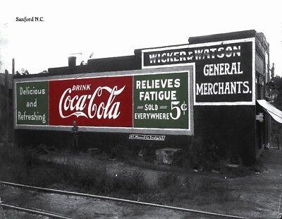 Coca Cola sign on building 3 postcards Trenton NJ