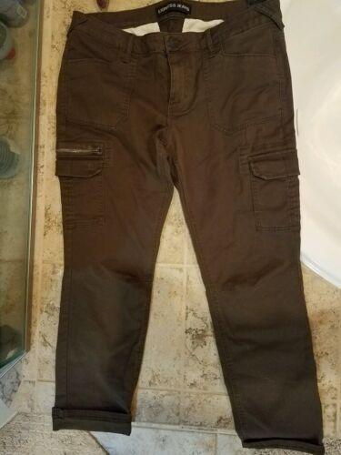 Express taglia Jeans Army 12 Nwt Cargo Jr's Green Dark rqvOr