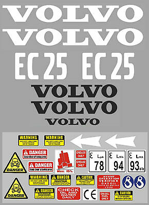 Decal Sticker Graphics Set For Volvo Ec25 Mini Digger Bagger Autocollant A Complete Range Of Specifications