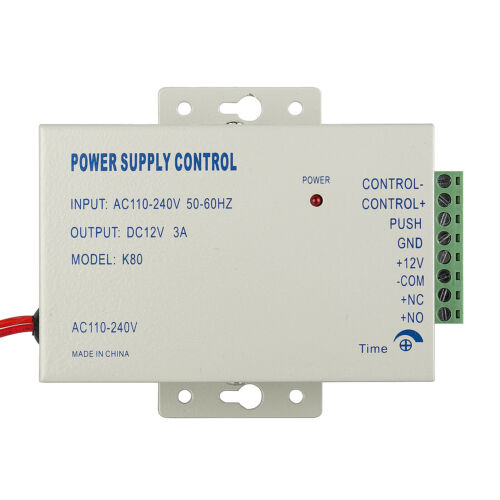 DC 12V3A Door Access Control Power Supply for Entry System Lock RFID Reader Bell