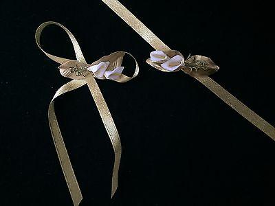 Brautjungfern Blumen Armband Satin Bändchen Gold Gül Nedime Bilekligi Altin Supplement Die Vitalenergie Und NäHren Yin Kleidung & Accessoires
