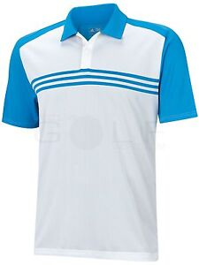 Image is loading Adidas-Climacool-Novelty-Stripe-Polo-M-B22255-White