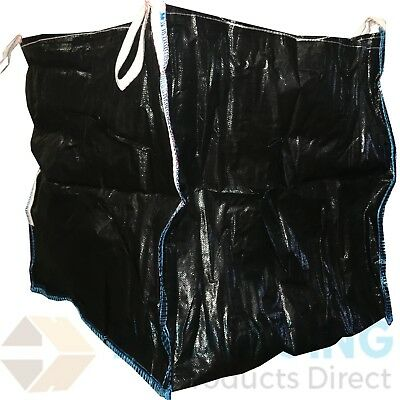 3 x BLACK One Tonne Ton FIBC Dumpy Jumbo Bags Builders Garden Rubble