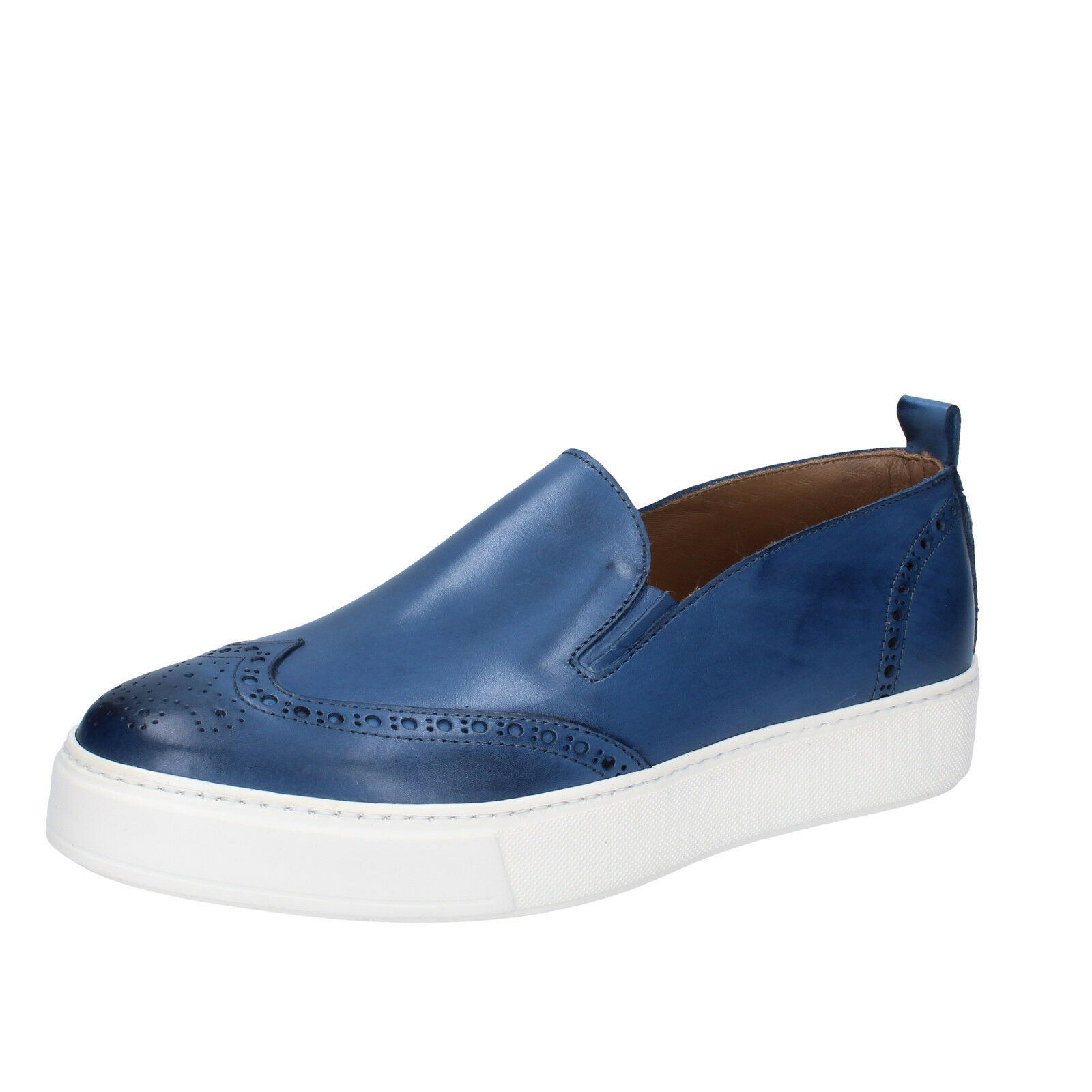 Men's shoes DI MELLA 8 (EU 41) loafers bluee leather AB999-B