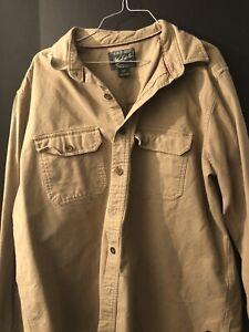 Woolrich-Vintage-Alaskan-100-Heavy-Button-Pocket-Shirt-Jacket-XL
