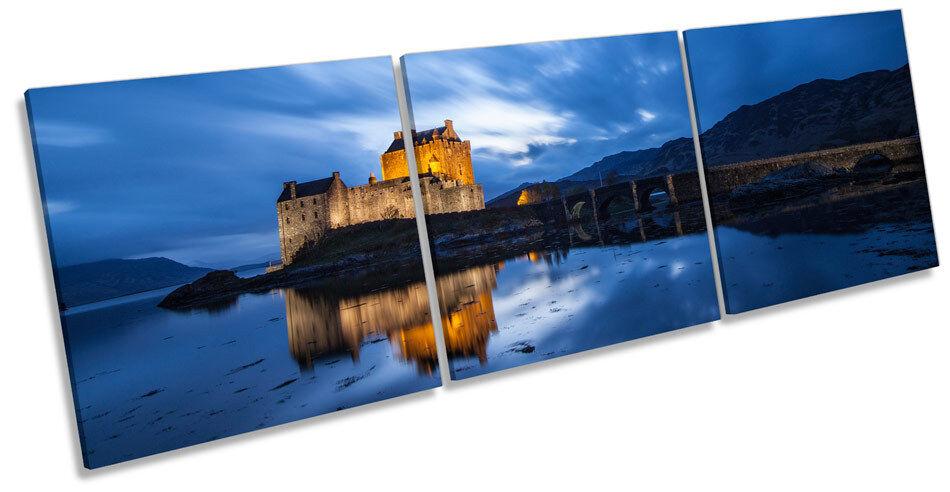 Eilean Donan Castle Scotland TREBLE CANVAS WALL ART Box Frame Picture