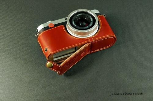 Caso de cámara de Cuero Genuino Real Medio Bolso Cubierta para Leica X-E Typ 102 X2 X1