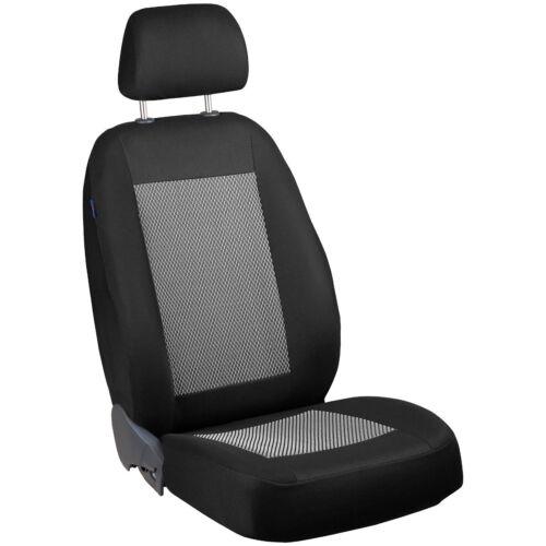 Noir Gris Blanc Sitzbezüge pour HYUNDAI i20 Siège-auto référence Set