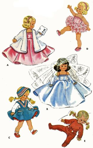 Vintage Doll Clothes Pattern 1965 for 7 8 in Ginny Muffie Alexander Kin by Vogue