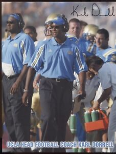 Karl-Dorrell-Signed-8x10-Photo-College-NCAA-Football-Coach-Autograph-UCLA