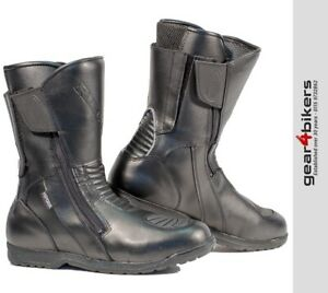 Richa-Nomad-WP-Motorcycle-Boot-Touring-Commuter-Waterproof-Motorbike-Boots-Black