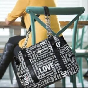 NEW-Miche-Hope-Prima-Black-White-Letters-BE-INSPIRED-BE-EMPOWERED-NO-REGRETS