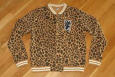 🔥 WEZC WeSC Leopard Varsity Cheetah Bomber Jacket Mens Size XXL 2XL L@@K 🔥