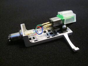 Audio-Technica-Tonabnehmer-gruen-AT-95E-mit-Halter-silber