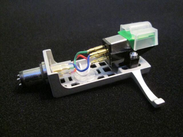 Audio Technica Tonabnehmer grün ( AT 95E ) mit Halter silber