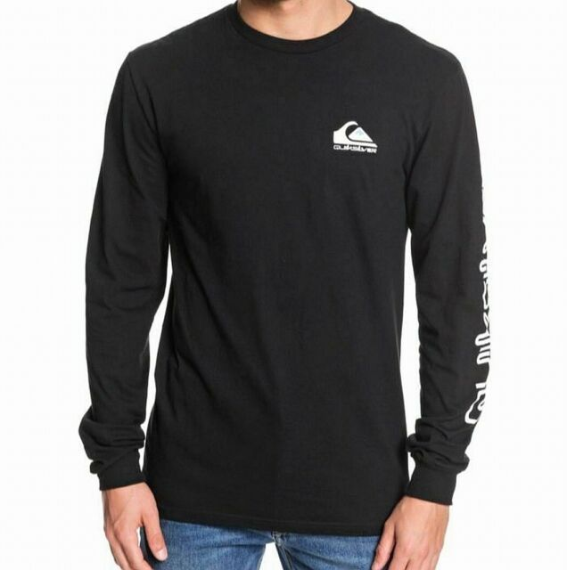 Quiksilver Mens Shirt Black Size Small S Graphic Tee Regular Fit $30 #159