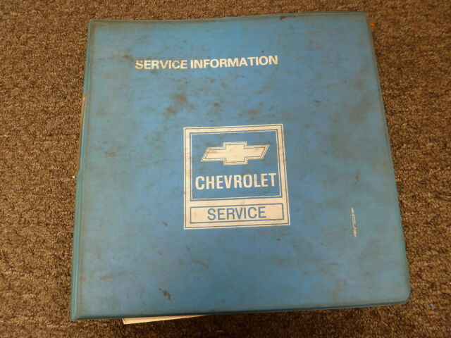 1983 Chevy C10 C20 C30 K10 K20 K30 Truck Service Repair