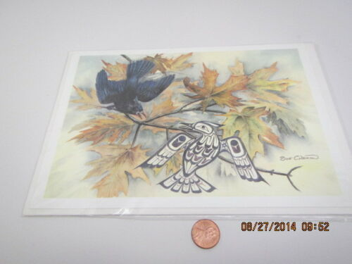 """Sue Coleman Print CARD 6/""""x9/""""THE SEA GULL/"""",STELLER/'S JAY,/""""THE SWAN/"""" You Choose"""