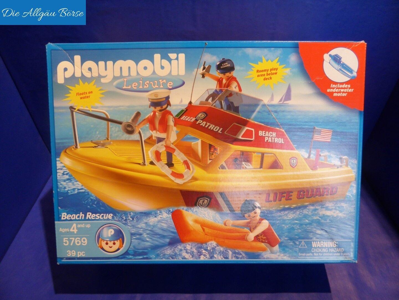 PLAYMOBIL 5769 scialuppa  Beach PATROL Life Guard US Set MOLTO RARO NUOVO OVP  consegna veloce e spedizione gratuita per tutti gli ordini