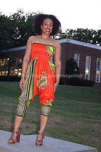 b74bbb16489d NWT One size fits XS - L AFRICAN DASHIKI JUMPSUIT HAREM PANTS ...