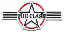 THE CLASH stripes/star logo EMBROIDERED PATCH **FREE SHIPPING** -london calling