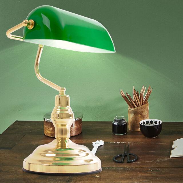 Vintage Lese Leuchte Antik Retro Nostalgie Bibliothek Bankers Lampe